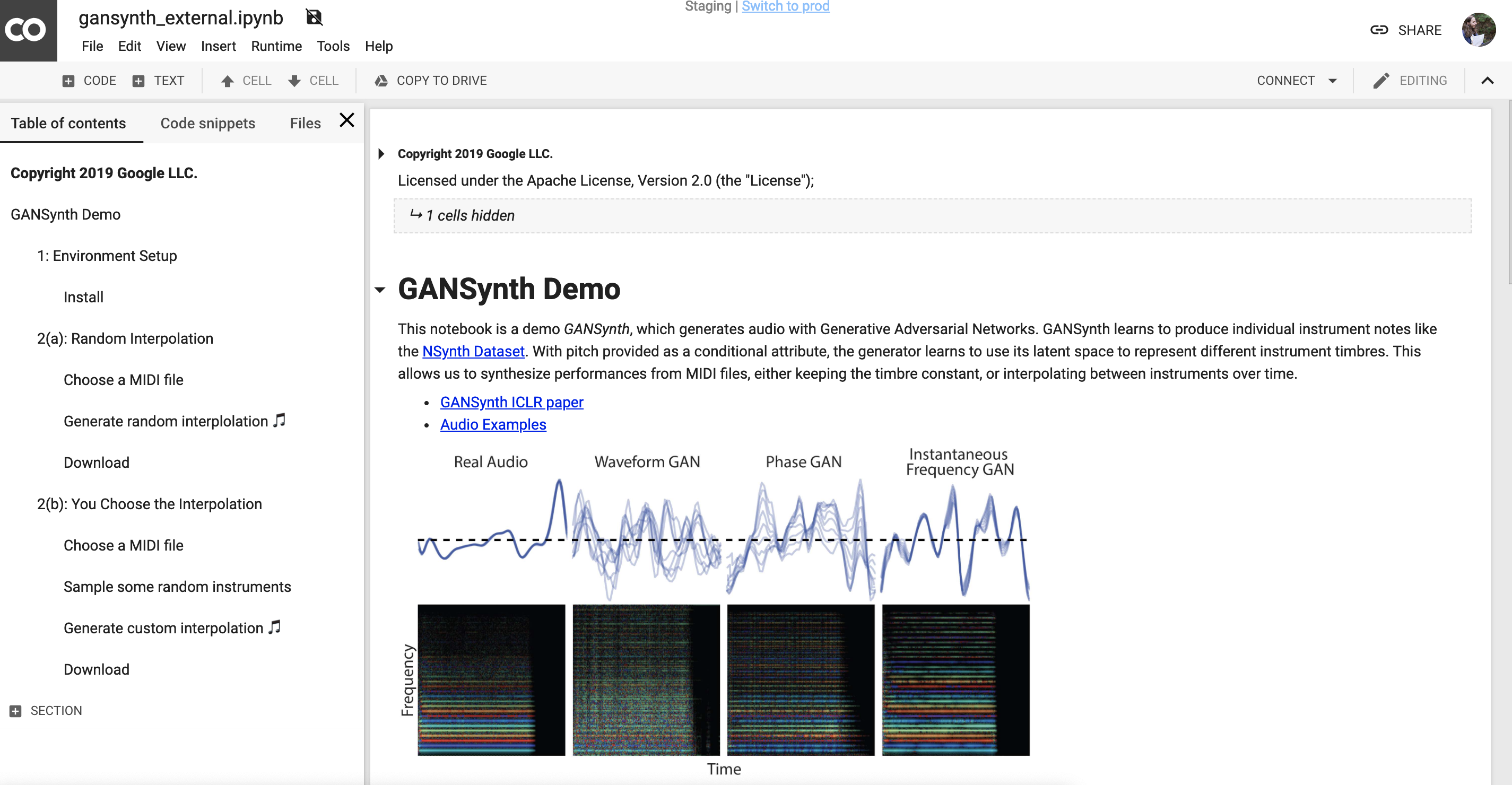 overview of GANSynth