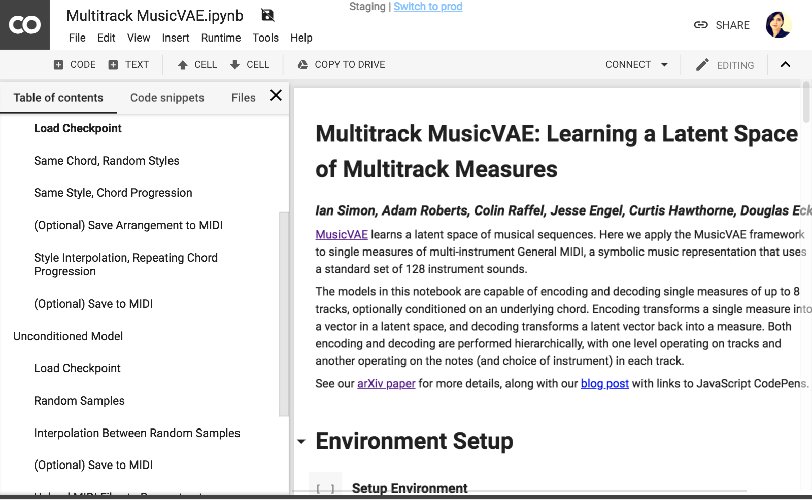 overview of Multitrack MusicVAE