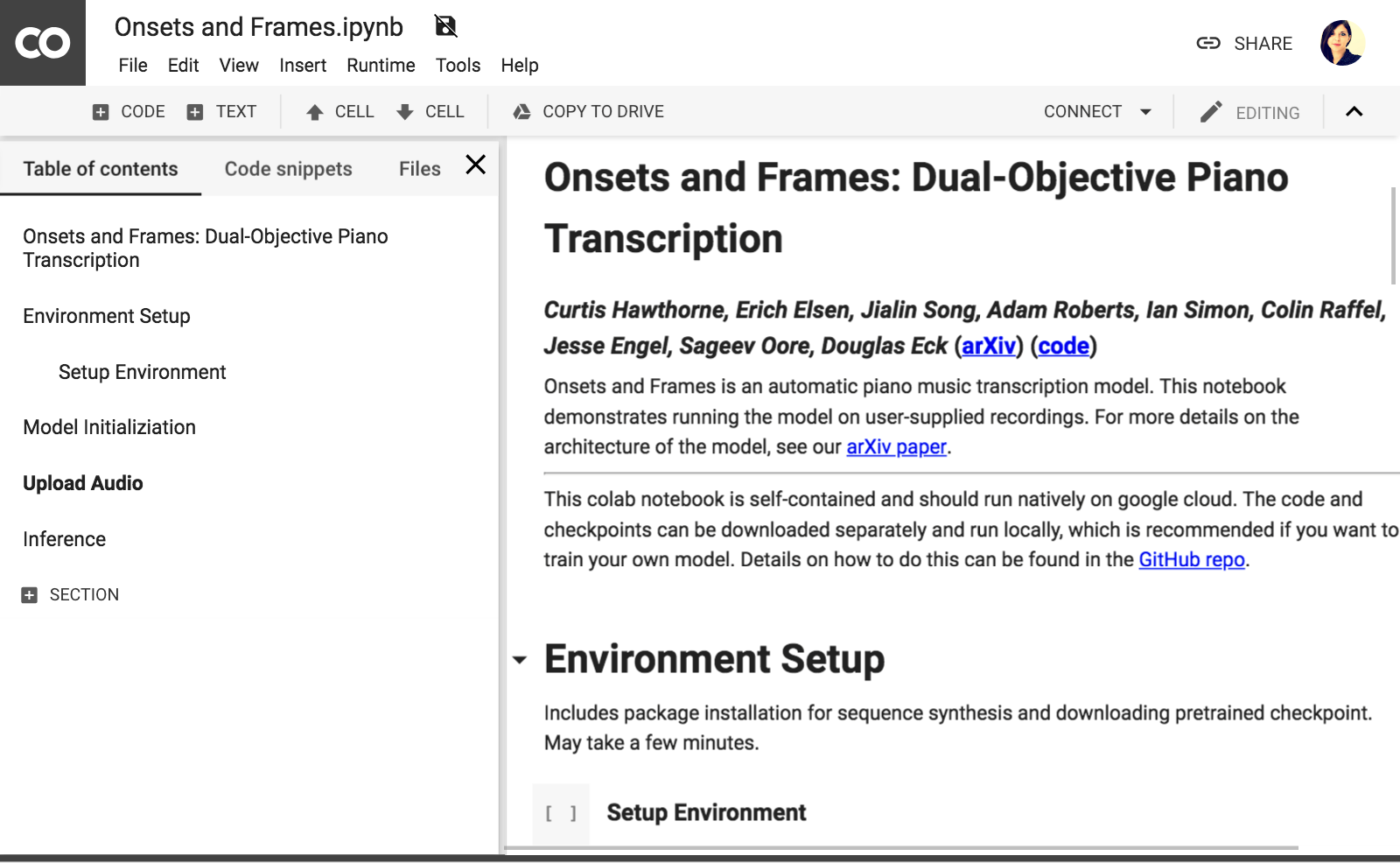 overview of Onsets and Frames