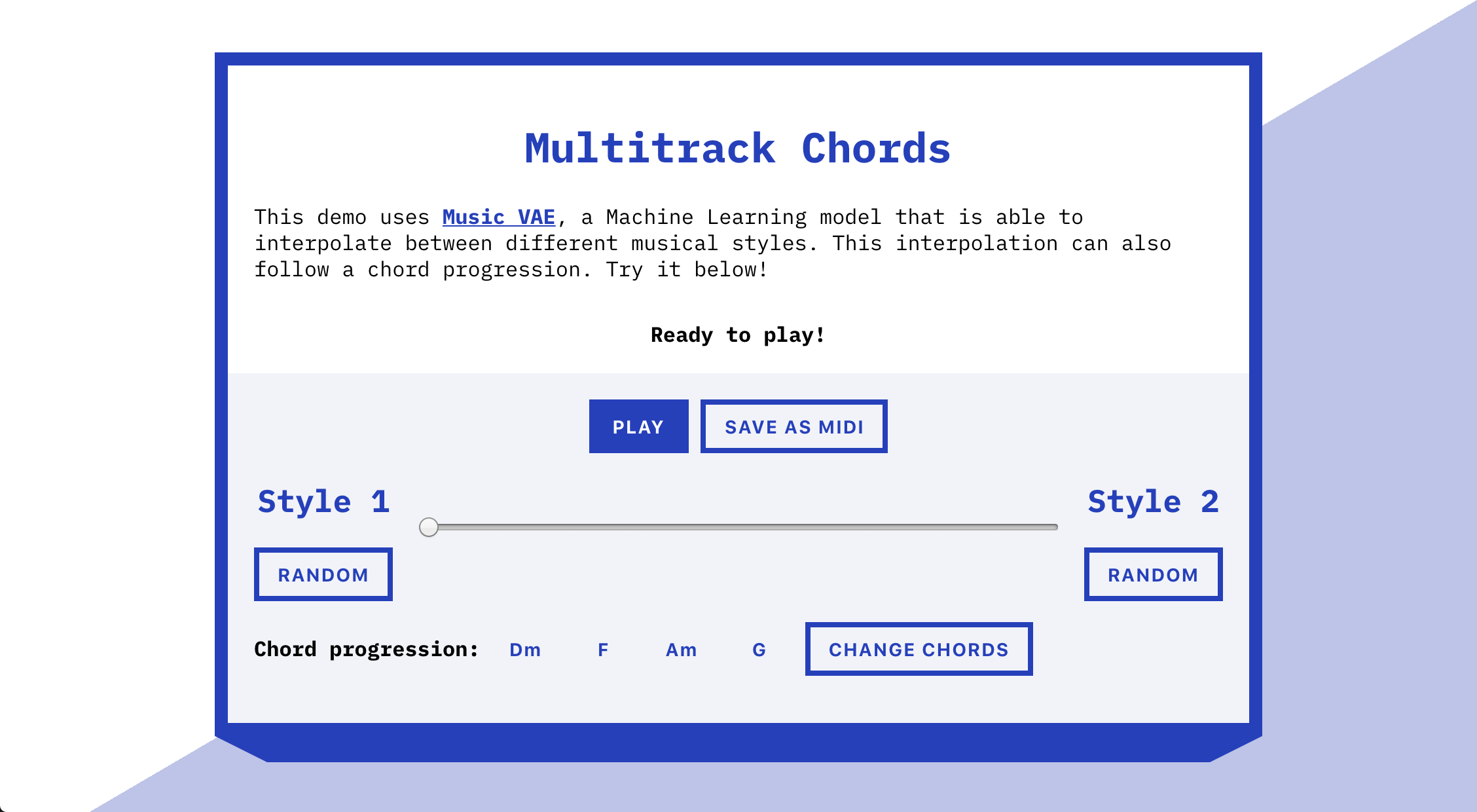 overview of Multitrack Chords
